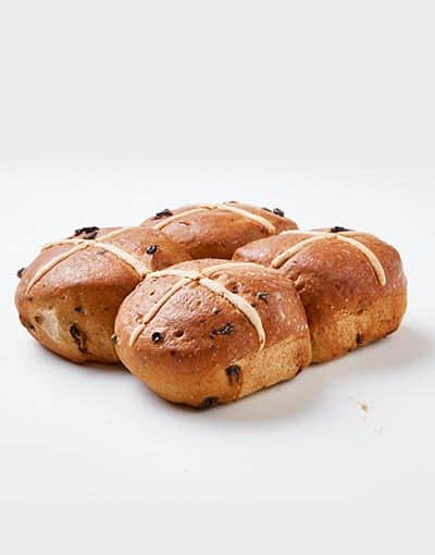 hot cross buns 4 pack